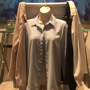 H&M lot of 4 button down blouses